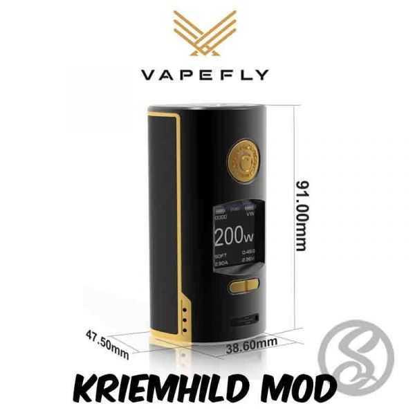 Box Kriemhild 21700 Black Gold - Vapefly